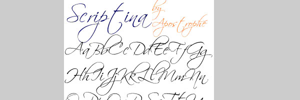 Fancy Cursive Fonts Handwriting Alphabet Scriptina Font
