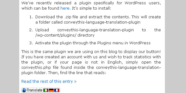 conveythis language translation plugin 10 Handy Translation Plugins For WordPress