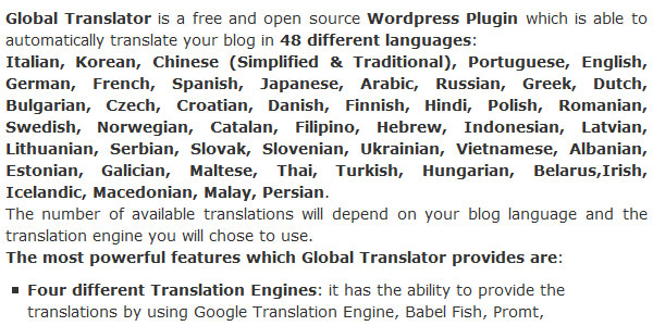 wordpress global translator plugin 10 Handy Translation Plugins For WordPress