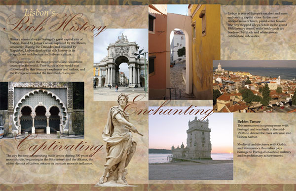 lisbon brochure inside 30 Awesome Travel Brochure Template Designs