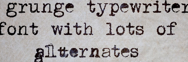 grunge typewriter font 25 Free Typewriter Font Collection