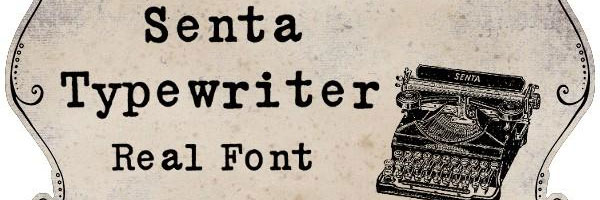 senta typewriter font 25 Free Typewriter Font Collection