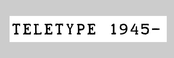 teletype font 25 Free Typewriter Font Collection