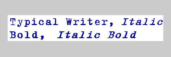 Typical Writer font