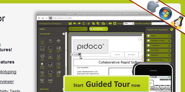 pidoco 30 Helpful Wireframe Tools
