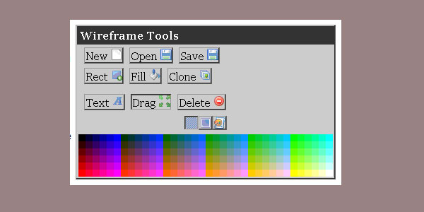 Web Site Wireframe Tool
