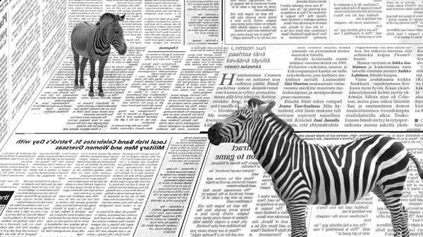 newspaper zebra wallpaper 25 Zebra Wallpapers