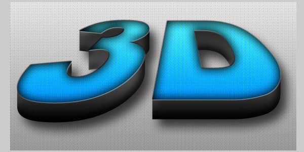 3D text effect 25 Brilliant 3D Text Photoshop Tutorials