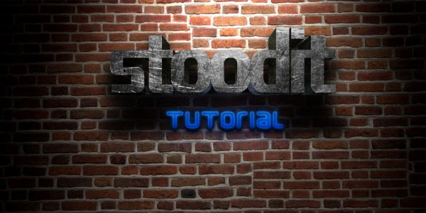 3D Text With Light Effects Tutorial