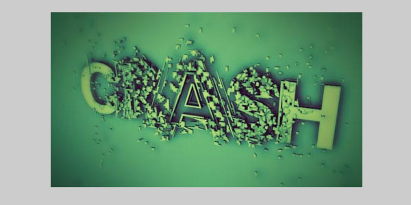 font crash 25 Brilliant 3D Text Photoshop Tutorials