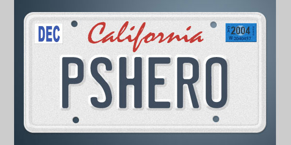 vanity license plate 25 Brilliant 3D Text Photoshop Tutorials
