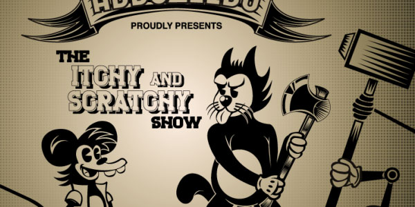 Create The Itchy and Scratchy Show Retro Version on Illustrator