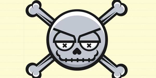 Simple Skull Vector Icon