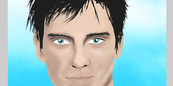 Create a vector male portrait from a photo