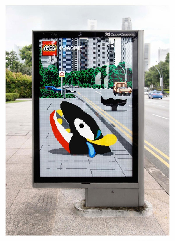 lego whale 20 New Advertising Ideas