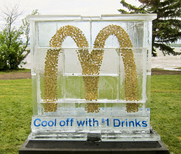 mcdonalds ice sculpture 20 New Advertising Ideas