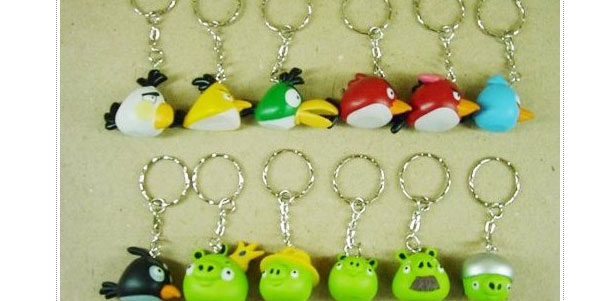 Angry Birds keychains