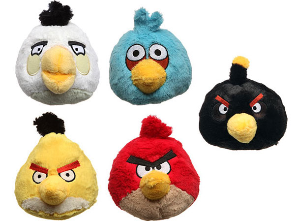 5 inch Angry Birds Plush with Sound
