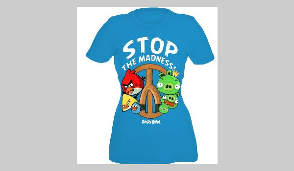 Angry Birds Stop The Madness Girls T-Shirt