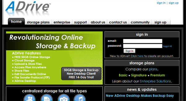 adrive 15 Useful Free Services To Backup Your Data Online