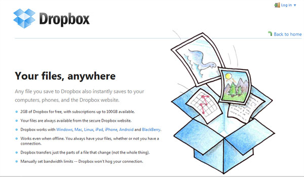 dropbox 15 Useful Free Services To Backup Your Data Online