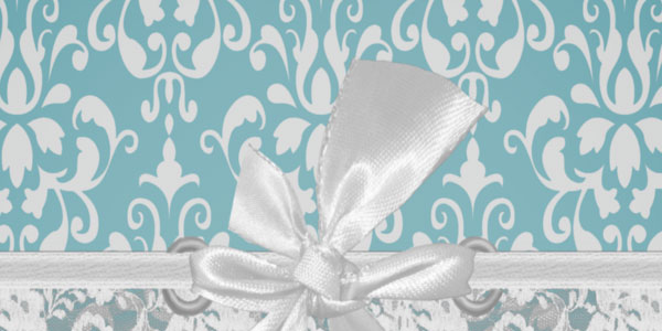 Aqua Baroque Vintage Lace Card