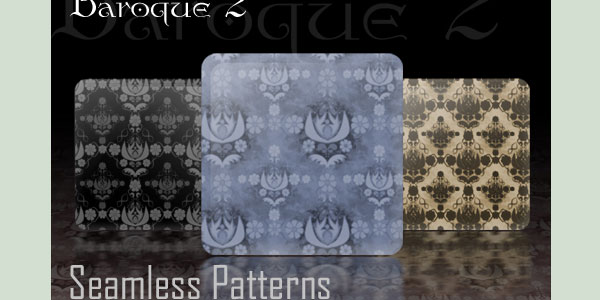baroque seamless patterns 11 Useful Baroque Patterns