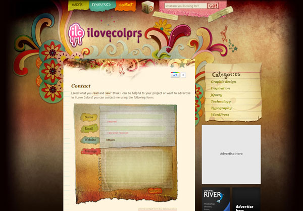 ilovecolors 25 Creative Contact Form Designs