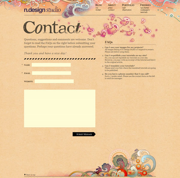 ndesign studio 25 Creative Contact Form Designs