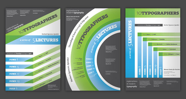 Modern Typography Lecture Poster Series