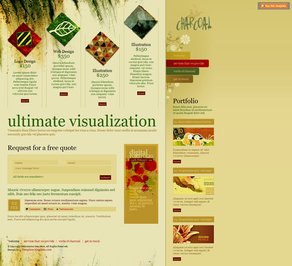 Charcoal 20 Beautiful Free CSS Web Templates