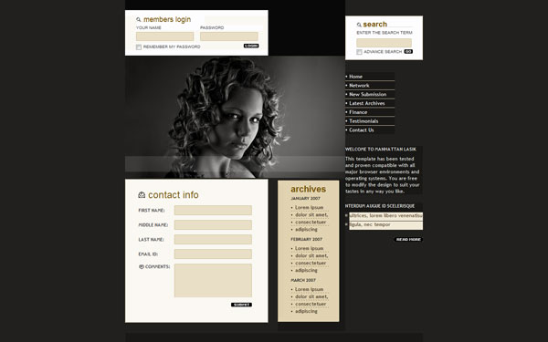 model 20 Beautiful Free CSS Web Templates