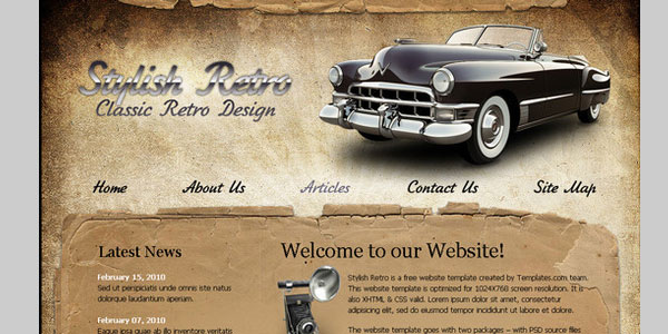 xhtmlcss website template 20 Beautiful Free CSS Web Templates