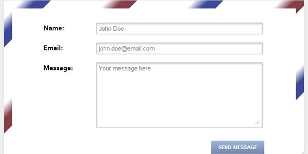 css3 envelope contact 20 Superb CSS3 Web Forms Tutorials