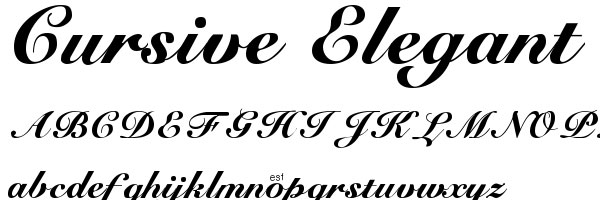 cursive elegant 20 Cool Fonts For Cursive Letters