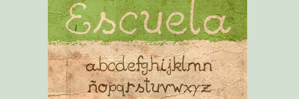 escuela 20 Cool Fonts For Cursive Letters