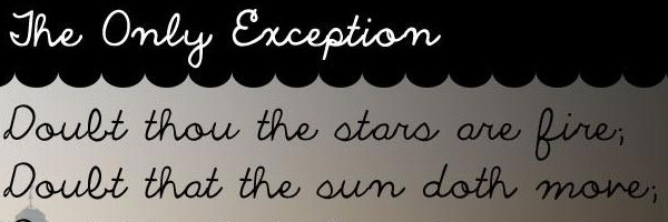 exception 20 Cool Fonts For Cursive Letters