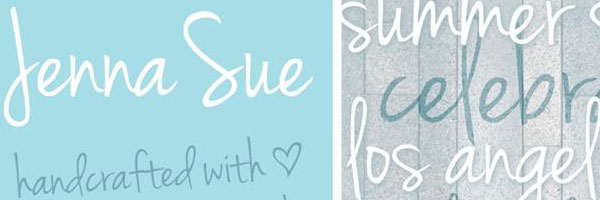 jenna sue design 20 Cool Fonts For Cursive Letters