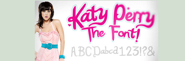 katy perry font 20 Cool Fonts For Cursive Letters