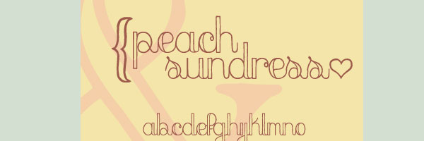 peach sundress 20 Cool Fonts For Cursive Letters