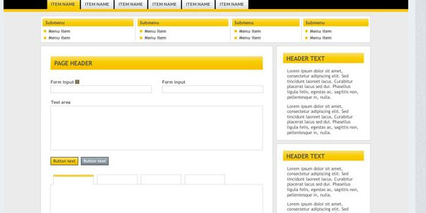 Yellow Admin Template