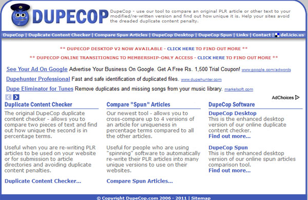 dupecop 10 Top Tools For Checking Duplicate Content