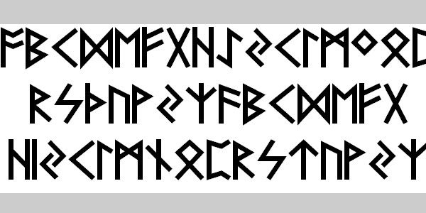 futhark aoe 25 Greek Alphabet Fonts
