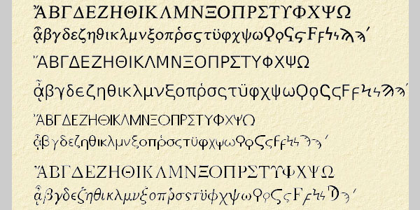 UNICODE GREEK FONTS