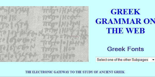 GREEK GRAMMAR ON THE WEB