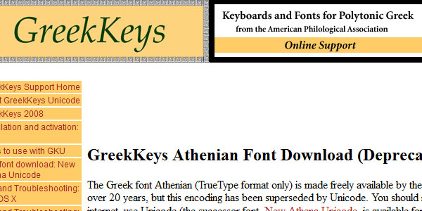 greekkeys 25 Greek Alphabet Fonts