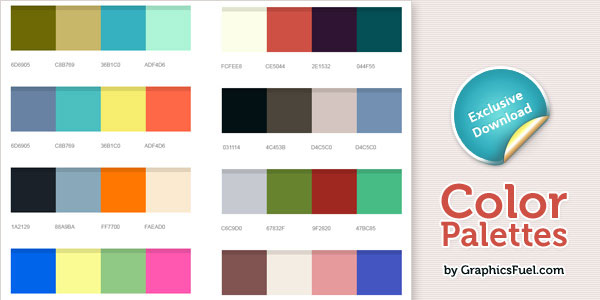Excellent color palettes