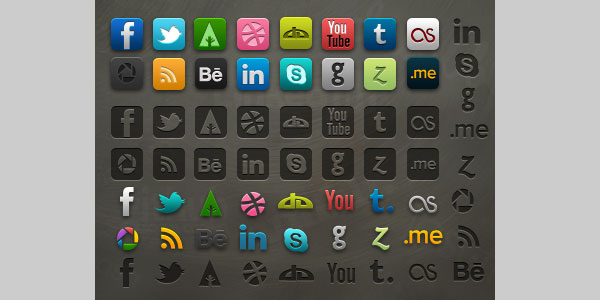 Socialis 2.1 - Icon pack with PSD
