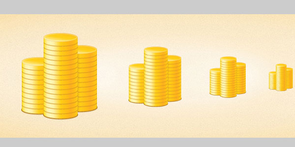 Create a Simple Coin Stack Icon