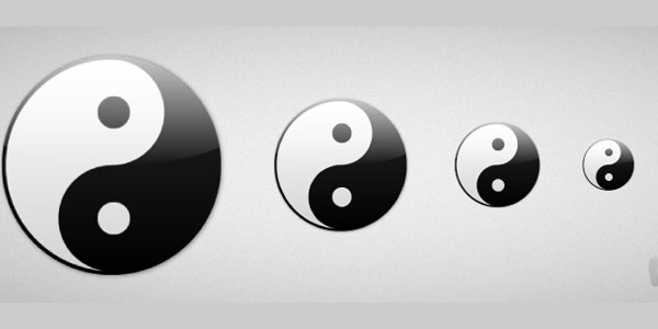 Create the Yin Yang Symbol